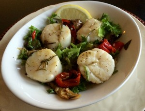 Eating Right with grilled scallops
